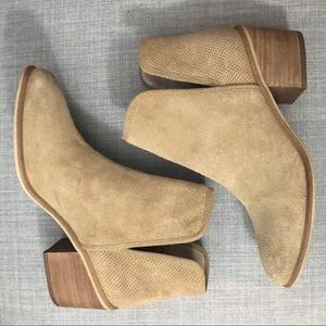 NWOT BP French Cut Suede Booties